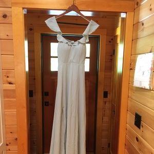 BHLDN Sage Bridesmaid Dress